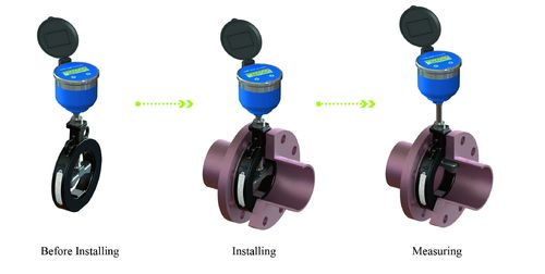 New generation Wafer type Ultrasonic water meter