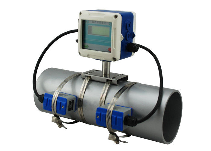 Water Velocity Meter : Doppler fixed clamp on flow meter by sound wave to