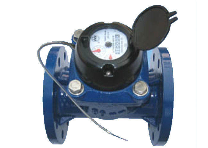 DN80 Cast Iron Multi Jet Woltman Water Meter / Vane Wheel Magnetic Hot Water Meter
