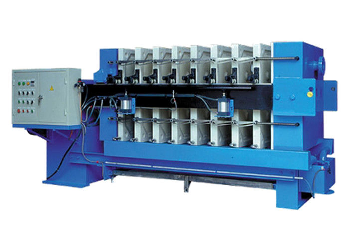 Automated Tilting Plate And Frame Filter Press 0.8 Mpa Plate Size 1500mm