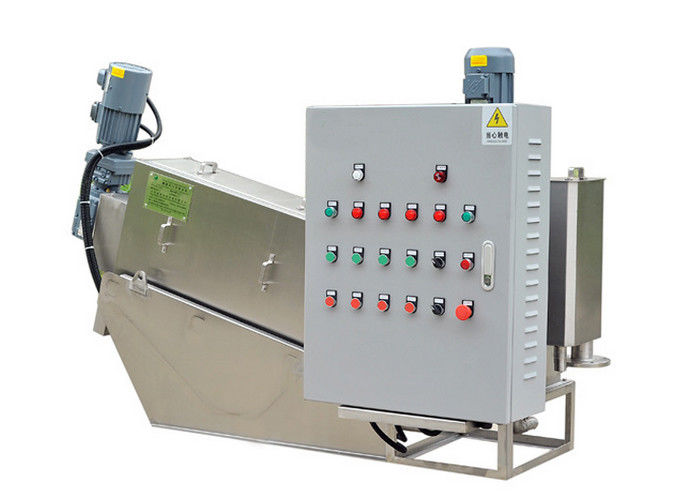 Screw press dewater machine to dry sludge from food beverage waste water SS304