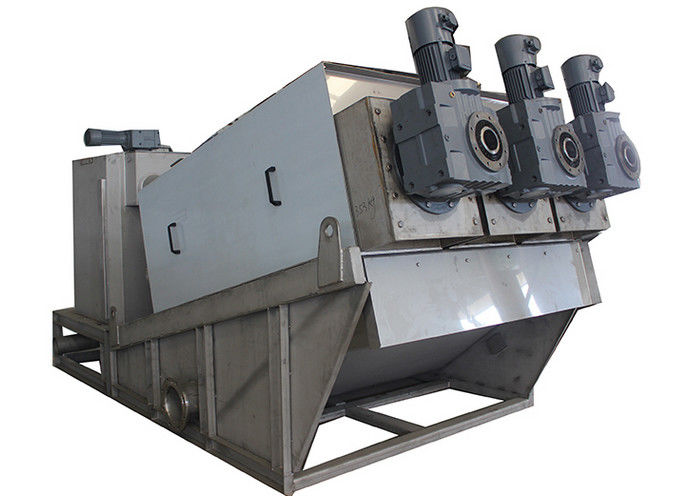 DS 60 kg/H Multi Disc Sludge Dewatering Screw Press For Effluent Treatment Plant In Paper