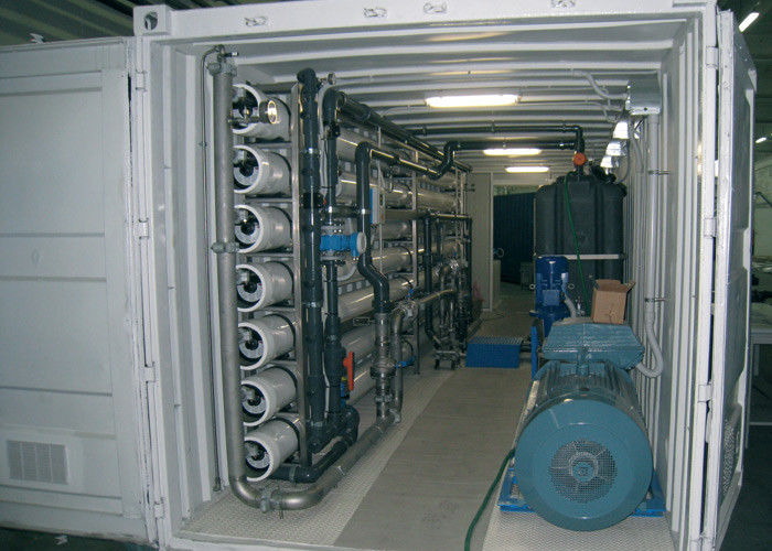 Containerized seawater desalination plant  RO system for drinking water production 20m3 / hour