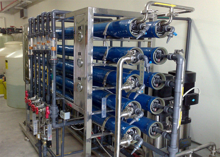 Two stage Brackish Water Reverse Osmosis Systems for ultra pure water 2 m3 / day 12000GPD