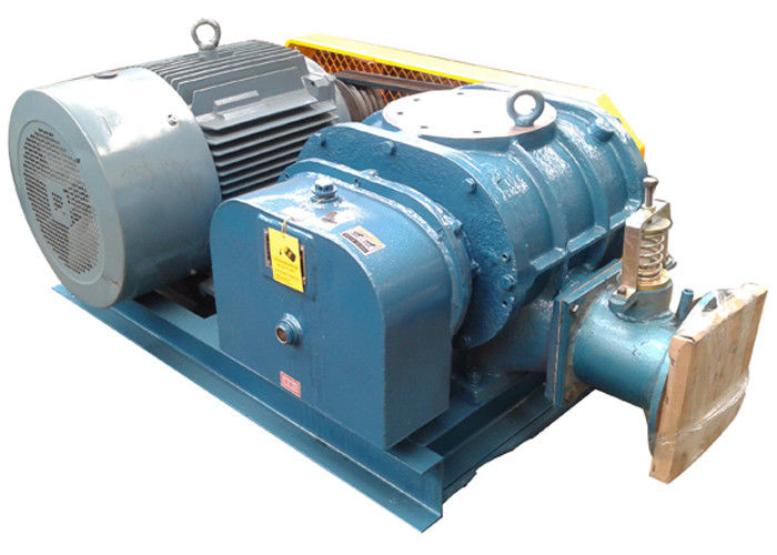 37KW  waste water treatment Tri-lobe Roots Blower 58.8 kpa Port size 150mm