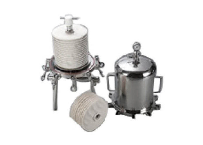 SS304 Lenticular filter housing for juice concentration wine enzyme solutions