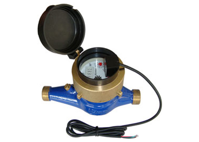 Peller Type Dry Dial Water Meterim With Thread / Flange Port Connect , DN15 - DN50 Port Size