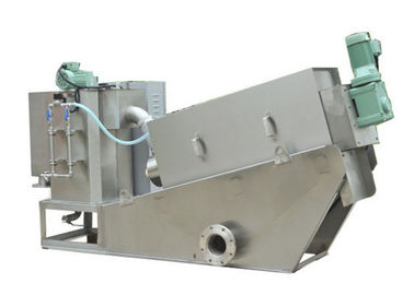 Stainless steel screw press dewatering machine for sludge treatment
