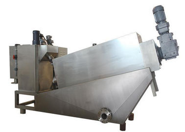 30 Kg / H Dewatering Screw Press Machine , Screw Press For Sludge Dewatering