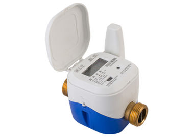 DN25 Brass Housing Ultrasonic Water Meter For Utility Volumetric Flow Measurement Billing