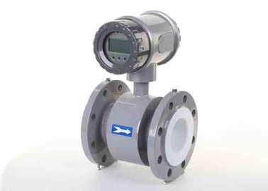 Battery Powered Electromagnetic Water Flow Meter For Industrial Diameter DN100