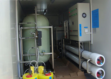 China Containerized Brackish reverse osmosis water treatment plant for  drinking 6m3 / hour factory