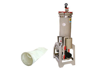 FRPP Chemical Filtration Systems / bag filter machine for petrochemical 150L / min 1HP