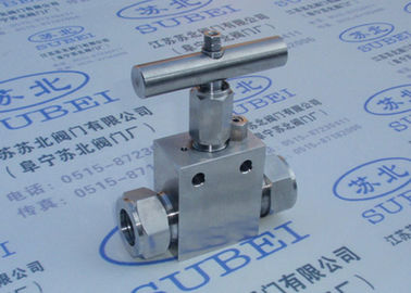 Oil media Cutting ferrule high pressure needle valve for chemical liquid fluid
