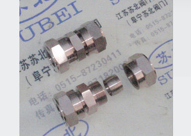 Hastelloy double ferrules Grooved Piping Systems / steel tube fitting
