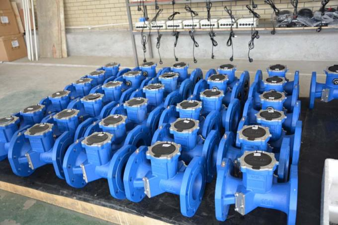 Residential Water Ultrasonic Flow Meters Convectional Type Pn16 Pressure