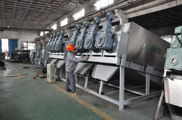 Dairy Factory Multi Disc Screw Press Dewatering For Waste Water Treatment ISO9001